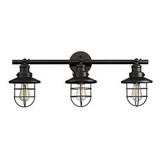 Buy the Globe Electric 59115 Oil Rubbed Bronze Direct. Shop for the Globe Electric 59115 Oil Rubbed Bronze Beaufort 3 Light Wide Wall Sconce and save. Light In The Dark, Vanity Lighting, Wall Lights, Light, Vintage Walls, Wall Sconce Lighting, Vintage Wall Sconces, Bathroom Lighting, Vintage Edison Bulbs