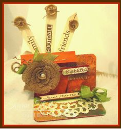 Creative Cafe Kit of the Month- Burlap Rose tutorial and Flower pot placeholder - The Rubber Cafe Design Team Blog
