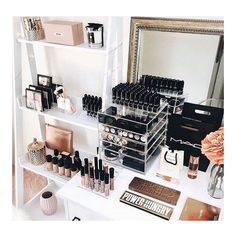 Stylish and affordable cosmetic storage, vanity decor & accessories. Create your… – Stylish and affordable cosmetic storage, vanity decor & accessories. Good Makeup Storage, Makeup Storage Drawers, Make Up Storage, Cosmetic Storage, Makeup Organization, Diy Storage, Beauty Storage Ideas, Make Up Organization Ideas, Diy Makeup Organizer