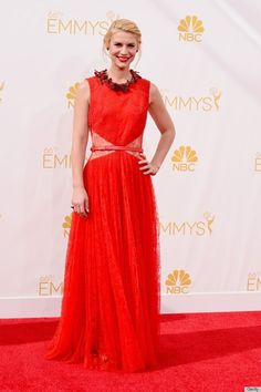 Emmys Jewelry Roundup: 2014- Claire Danes wearing a yellow diamond bracelet!