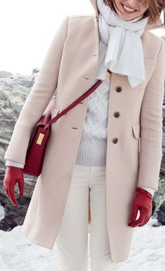Winter Whites and Pastel Coat Fabulous Outfit