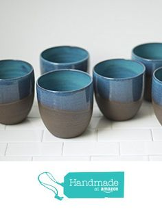 Turquoise Ceramic Tumblers - Handmade Pottery - Coffee Mugs - Teacups - Whiskey Rocks Glasses - Ceramic Cups by SoulVesselDesigns on Etsy / click the image or link for more info. Ceramic Clay, Stoneware Clay, Ceramic Bowls, Earthenware, Pottery Mugs, Ceramic Pottery, Pottery Art, Pottery Wheel, Ceramics Projects