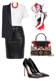 """""""Sin título #792"""" by maricelmartinez on Polyvore featuring moda, Alexander McQueen, T By Alexander Wang, Dsquared2, Tom Ford y Gucci"""
