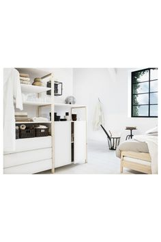 3 Drawer Chest, Chest Of Drawers, Tiny House Wood Stove, Ikea Storage, Storage Ideas, Tiny House Bathroom, Kiefer, White Rooms, Drawer Fronts