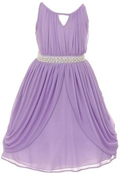 iGirlDress Little Girls' Elegant Grecian Chiffon Gown with Pearl & Crystal lilac size 6 iGirldress http://www.amazon.com/dp/B00XO2DWBA/ref=cm_sw_r_pi_dp_pIsCvb186C2FF -- Perfect light purple, lilac, lavender flower girls dress for a grecian/Roman wedding theme. Also, it has silver!