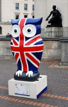 Jack, The Big Hoot Owls, in front of the Hall of Memory, Centenary Square, Birmingham 2015.
