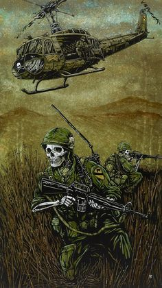 Day of the Dead Artist David Lozeau, 1st Air Cav, Military Art, David Lozeau Dia de los Muertos Art - 1