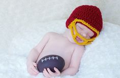 NEWBORN Football Helmets!  Perfect for the new babies of hardcore football fans out there!!