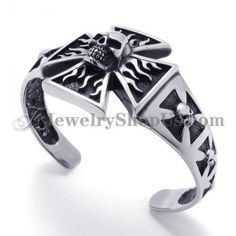 Fashion Cross Titanium Bracelet