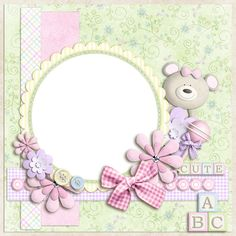 Baby Cards Girl Photo Layouts 63 New Ideas Baby Girl Scrapbook, Baby Scrapbook Pages, Scrapbook Frames, Scrapbook Layout Sketches, Scrapbooking Layouts, Scrapbook Cards, Boarders And Frames, Painted Picture Frames, Baby Girl Cards