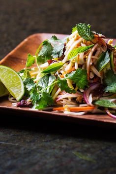 This spin on papaya salad combines fresh herbs and veg with chewy beef jerky and tangy nuoc cham.
