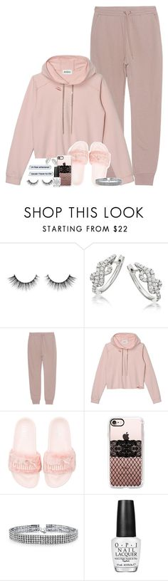 """Set 500 -"" by xjulie1999 ❤ liked on Polyvore featuring T By Alexander Wang, Puma, Casetify, Bling Jewelry and OPI"