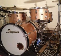 Drums Slingerland 1962, Champagne Sparkle, maple.