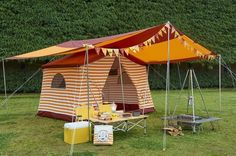 Retro Camping, Camping Style, The Mountains Are Calling, Happy Campers, Horseback Riding, Glamping, Gazebo, Tent, Nature