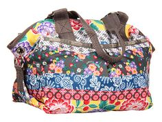 LeSportsac Jetsetter, Jamboree     Bottom Width: 13 in     Depth: 8 in     Height: 11 in     Handle Length: 16 in     Handle Drop: 9 in     Weight: 14 oz