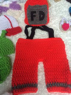 Crochet baby costume fire baby 0-3,3-6,6-9 months on Etsy, $20.00