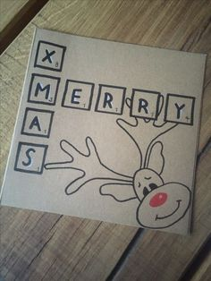 Reindeer Card christmas cards Easy DIY Christmas Card Ideas You'll Want to Send This Season Simple Christmas Cards, Handmade Christmas Tree, Christmas Cards To Make, Homemade Christmas, Xmas Cards, Diy Cards, Christmas Crafts, Rudolph Christmas, Snowman Crafts