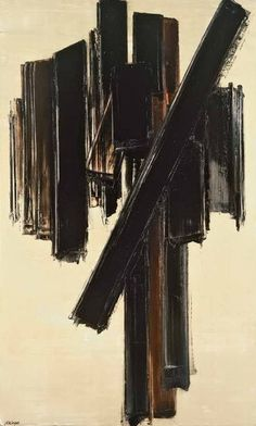 Abstract Art Thoughts: Weekend Edition 44 Pierre Soulages - Be bold. Be different.
