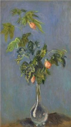 Flowers in a Vase: 1888 by Claude Monet (Philadelphia Museum of Art, PA) - Impressionism