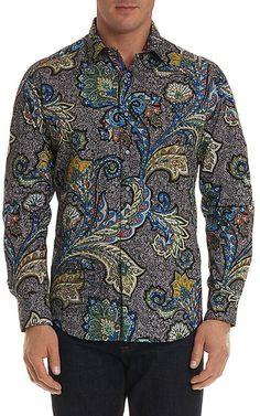 Robert Graham Sea Dragon Regular Fit Button-Down Shirt Men - Bloomingdale's Robert Graham, Dragon Sports, Paisley, Sea Dragon, Luxury Fashion, Mens Fashion, Sports Shirts, Versace, Style Me