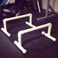 DIY Parallettes ~ directions AND exercises!