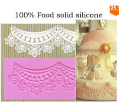 N124 Wedding sugar cake beautiful decoration flower laciness middle crown collar lace mat silicone lace mold-in Baking & Pastry Tools from Home & Garden on Aliexpress.com | Alibaba Group