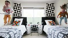 34 Awesome Black And White Kids Room