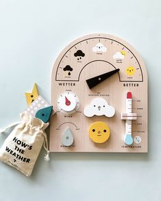 Weather Station Toy You are in the right place about Montessori Toys handmade Here we offer you the Diy Sensory Board, Sensory Kids, Interactive Toys, Learning Toys, Kids Educational Toys, Wood Toys, Wooden Toys For Kids, Diy Kid Toys, Diy Toys For Toddlers