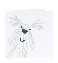 Sketchy Dog Blank Card