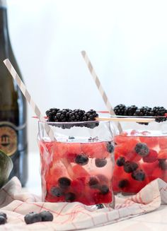 Berry Blast: mixed berries and watermelon with martini bianco and bubbly prosecco | The Daily Dose