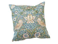 William Morris Slate Strawberry Thief Cushions
