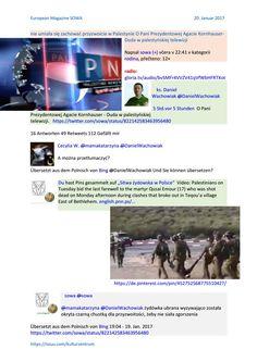 Martyrologia narodu palestyny zmarl emigrant syjonistyczny 1968 wegrzyn komandor rajdu kaczynskiego http://sowa.quicksnake.cz/rodina/nie-umiala-sie-zachowac-przyzwoicie-w-Palestynie-O-Pani-Prezydentowej-Agacie-Kornhauser-Duda-w-palestynskiej-telewizji  Senator Leonard Lance https://pl.scribd.com/document/337050246/Martyrologia-Narodu-Palestyny-Zmarl-emigrant-syjonistyczny-1968-Wegrzyn-komandor-Rajdu-Kaczynskiego-szef-kampanii-kryptosyjonistycznego-Brauna-2017012