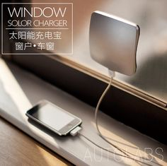 Window Solar Charger 2400mAh Power Bank For Phones