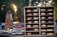 Vintage pie display