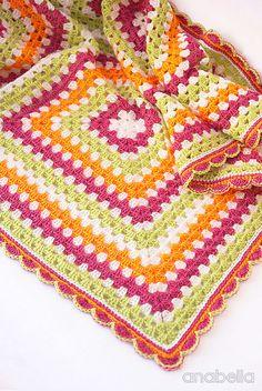 Anabelia craft design: Sofia crochet baby blanket