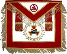 Masonic Royal Arch Past High Priest PHP Apron Hand Embroidered MA 344 V   eBay