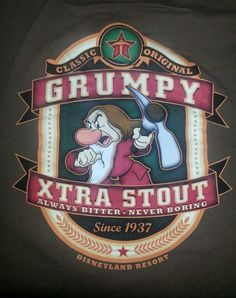 Filmic Light - Snow White Archive: Slightly Older Grumpy Tees and Tops