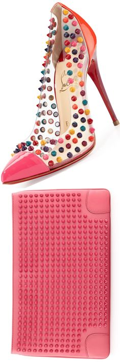 Christian Louboutin Spike Me cap toe pump