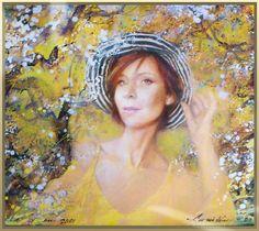 Tina | portrait acrylic on canvas | Andrei Krioutchenko | Flickr Portrait Acrylic, Mona Lisa, Canvas, Artwork, Painting, Artist, Tela, Work Of Art, Auguste Rodin Artwork