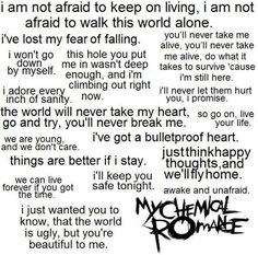 maybe the best lyrics by  my chemical romance