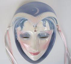 Clay Art Celestial Sorceress Ceramic Mask Moon Goddess San Francisco 1988 #ClayArtofSanFrancisco