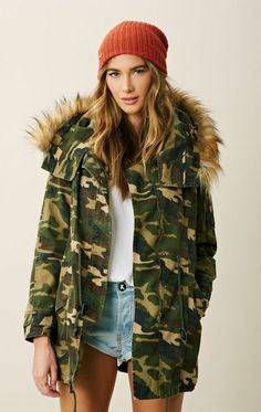 Capulet // Military Parka with Faux Fur Hood
