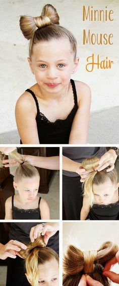 Minnie Mouse Hair Tutorial for kids! Okay so Lucy won't have enough hair for thi. - Minnie Mouse Hair Tutorial for kids! Okay so Lucy won't have enough hair for this for um…years - Crazy Hair Day At School, Crazy Hair Days, Hair Ideas For School, Wacky Hair, Pretty Hairstyles, Kids Hairstyle, Top Hairstyles, Hairstyle Ideas, Simple Hairstyles