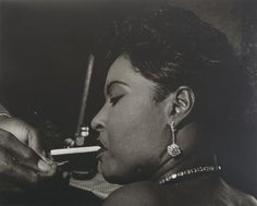 Billie Holiday, 1954. Photo by Leigh Wiener