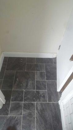 7 best grey tile effect vinyl floor in bathroom images rh pinterest co uk