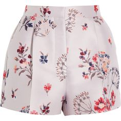 Stella McCartney Warwick high-rise floral-jacquard shorts (31560 DZD) ❤ liked on Polyvore featuring shorts, bottoms, pants, skirts, pastel pink, tailored shorts, high-rise shorts, pink shorts, pastel shorts and high rise shorts
