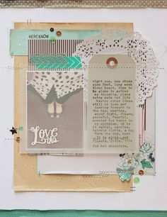 LOVE these beautiful layers and the vellum... Here & Now by dearlydee at @Studio_Calico