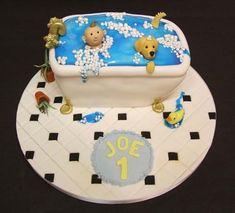 Bathtime Birthday Cake