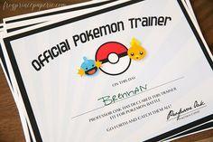 Pokemon Inspired Printable Trainer por FrogPrincePaperie en Etsy