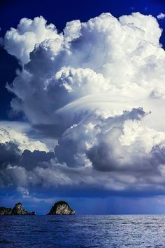 """Magnificent cloud on the mediterranean , near the Amalfi, Italy by Haiwei Hu """